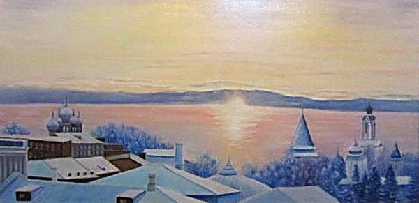 Картина Рассвет над городом 2010