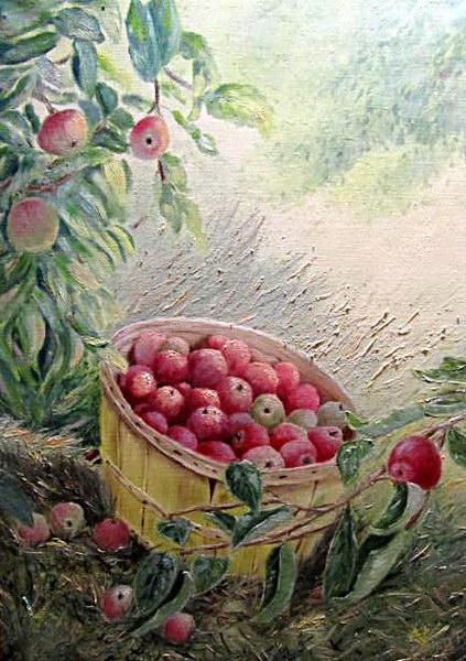 Картина Яблочная корзина 2012