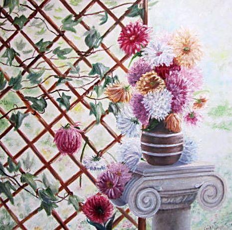 Картина Астры в саду 2011