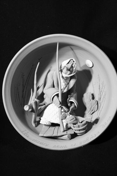 Панно в  миске