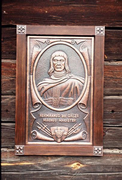 Панно Магистр тевтонского ордена Герман фон Зальца