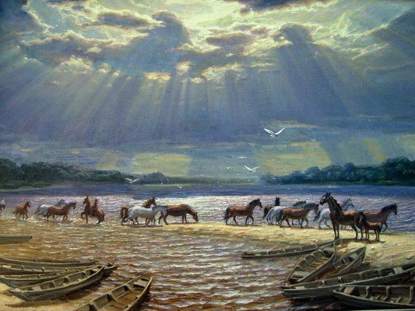 Картина Табун на водопое