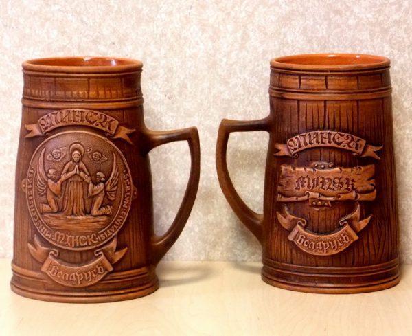 Кружка пивная с гербом Минска