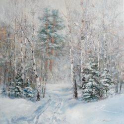 Картина Зимой