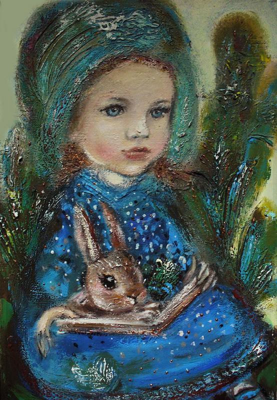 """Картина """"Фея с кроликом"""""""