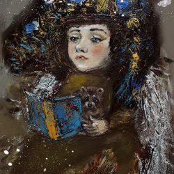 """Картина """"Ангел за чтением"""""""