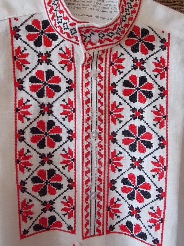Рубашка вышиванка с белорусским орнаментом