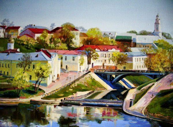 Картина Витебск, устье р.Витьба