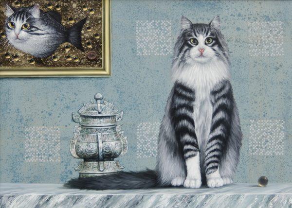 """Картина """"Серый кот"""""""