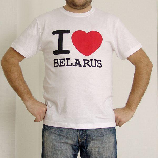 "Футболка мужчынская ""I LOVE BELARUS"""