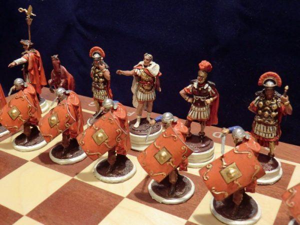 Шахматы коллекционные «Римляне против германцев»