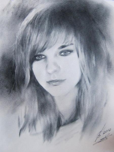 Картина Портрет черно-белый