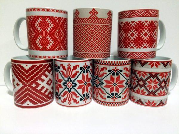 Кружка c белорусским орнаментом