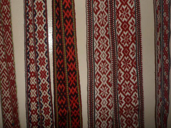 Пояса белорусские тканые с орнаментом (13 нитей)