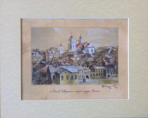 """Панно """"Минск, кварталы старого города. Немига"""""""