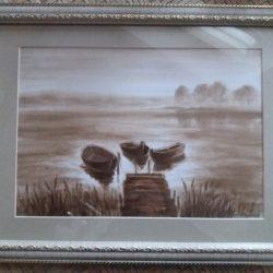 "Картина ""Вечер"", написана нефтью"
