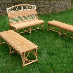 Мебель из лозы (лавка и 2 лежака)