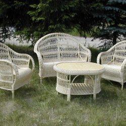 Мебель из лозы (гарнитур: диван, 2 кресла и журнальный столик)