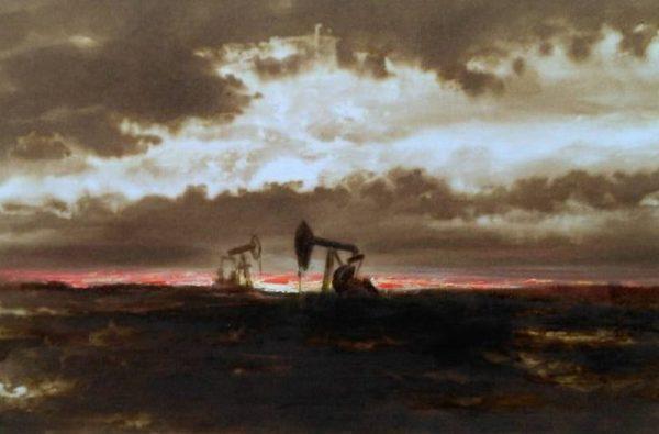 """Картина написанная нефтью из серии """"Нефтедобыча"""""""
