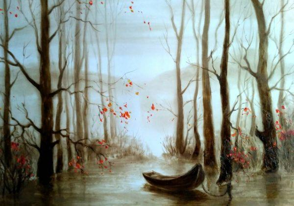 """Картина написанная нефтью """"Осень"""""""