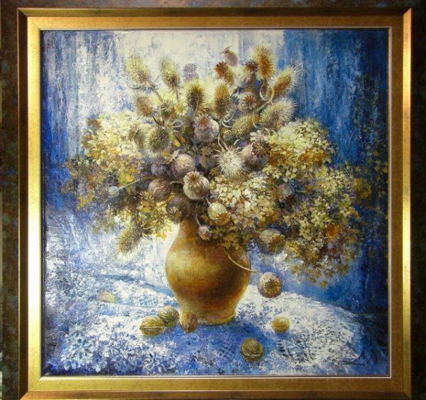 """Картина """"Зимние цветы"""""""