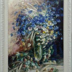 """Картина """"Цветы в стеклянном бокале"""""""