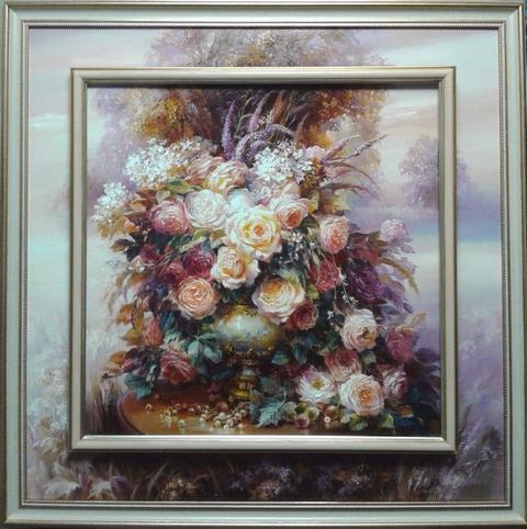 """Картина """"Розы в старинной вазе"""""""