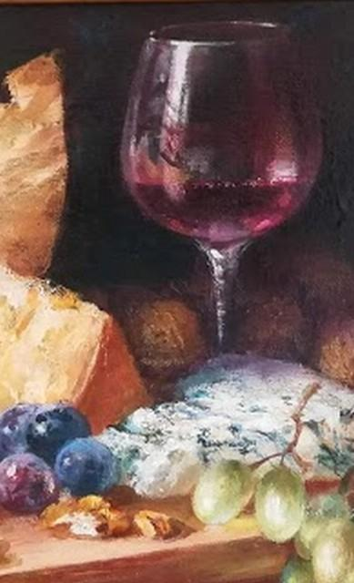 "Картина ""Вино с сыром"""
