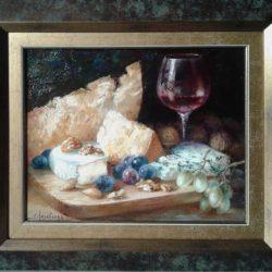 """Картина """"Вино с сыром"""" из серии """"Вкусные натюрморты"""""""