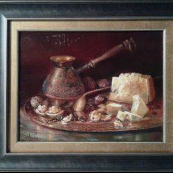 """Картина """"Кофе с сыром""""из серии """"Вкусные натюрморты"""""""