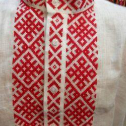Мужская сорочка с белорусским орнаментом