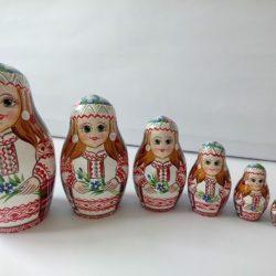 "Матрешка ""Белорусочка со льном"""