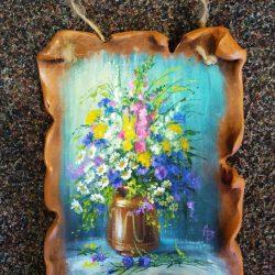 """Панно на керамическом пласте """"Цветы полевые"""""""