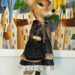 """Текстильная кукла """"Крыса-француженка"""""""