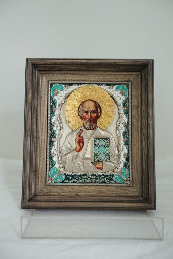 """Икона """"Святой Николай-чудотворец с нимбом"""""""
