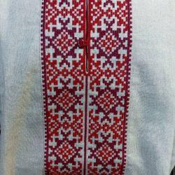 Мужская рубашка с  белорусским орнаментом