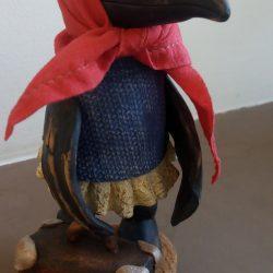 Керамическая фигурка,скульптура.Ворона.