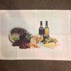 """Кухонное полотенце """"Натюрморт с вином"""""""
