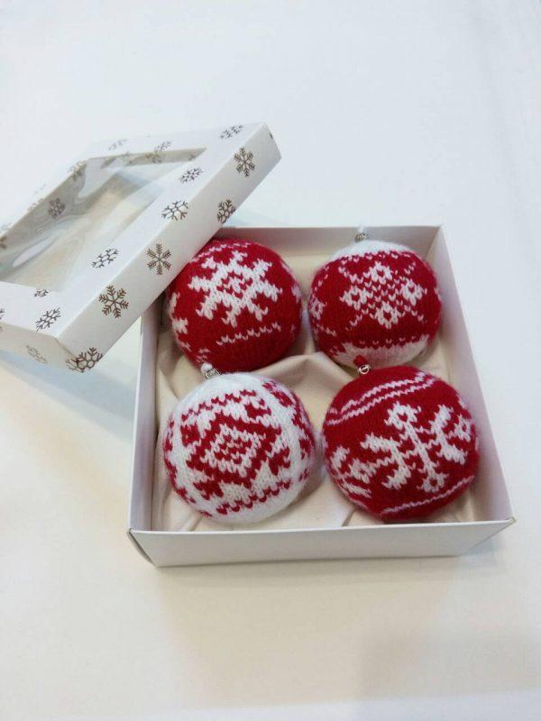 Новогодние шары (красный комплект)