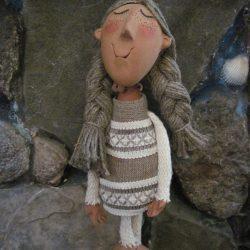 Керамическая кукла.Белорусочка.