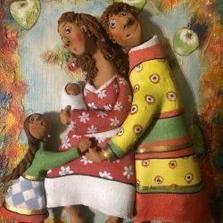 Керамическое панно.Семья,Подарок семье.
