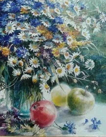 """Картина.""""Букет июльских цветов"""""""
