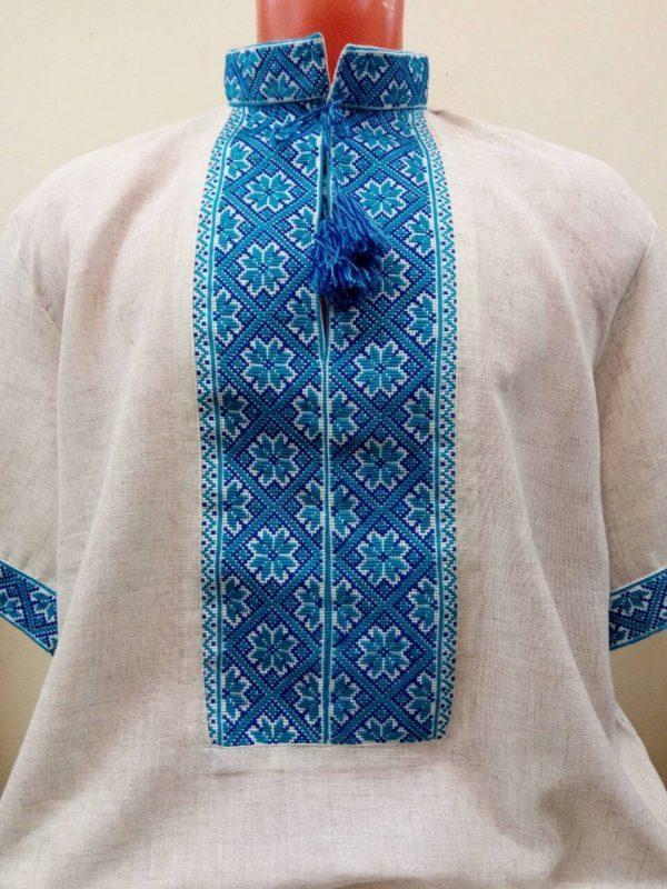 Вышиванка. Мужская рубашка с народной вышивкой
