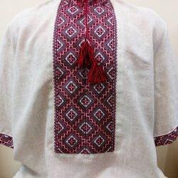 Мужская рубашка вышиванка с полесской вышивкой