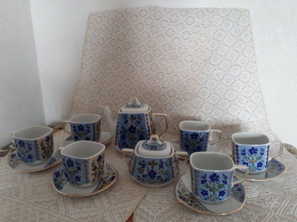 """Сервиз чайно-кофейный на 6 персон на тему """"Слуцкие пояса"""""""