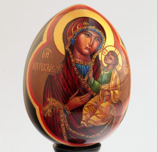 """Пасхальное яйцо """"Богоматерь Иверская"""""""
