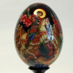 """Расписное яйцо """"Георгий победоносец"""""""
