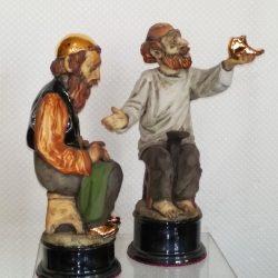 """Скульптура """"Равин и Молящийся"""" из серии """"Жители штетла"""""""