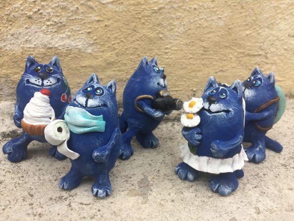 Синий кот,сувенир,подарок,весна.