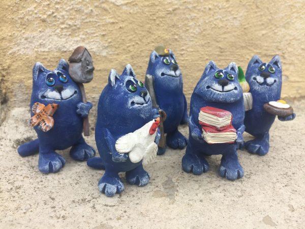 Коты,керамическая фигурка,сувенир,подарок.